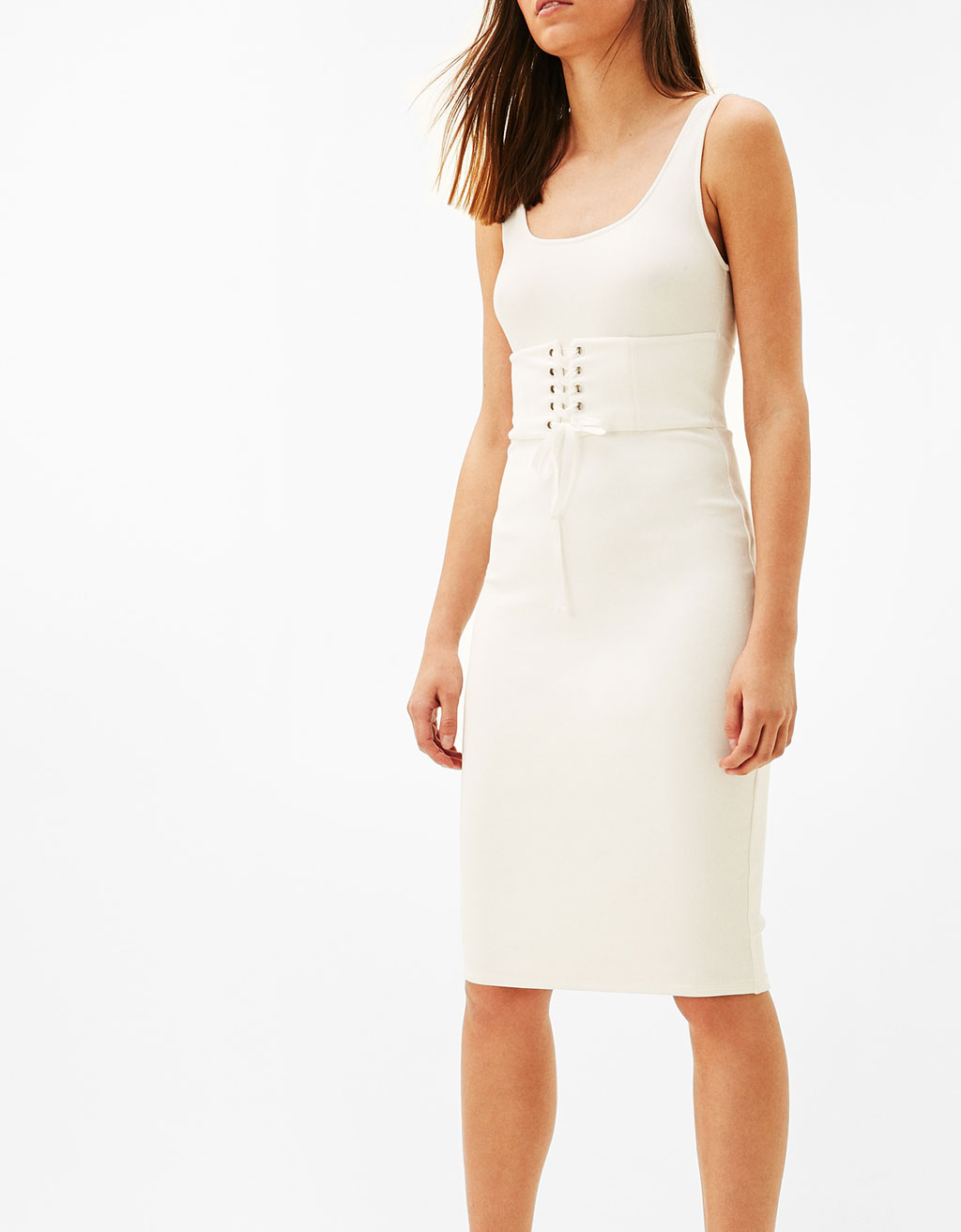 Strappy corset midi dress