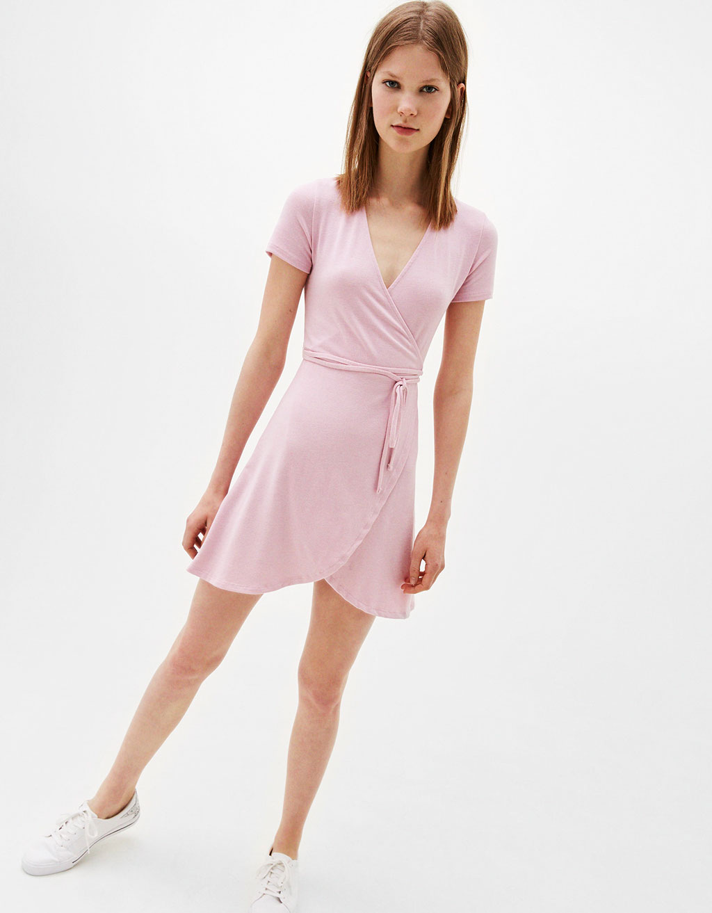 Ballerina dress with crossed back
