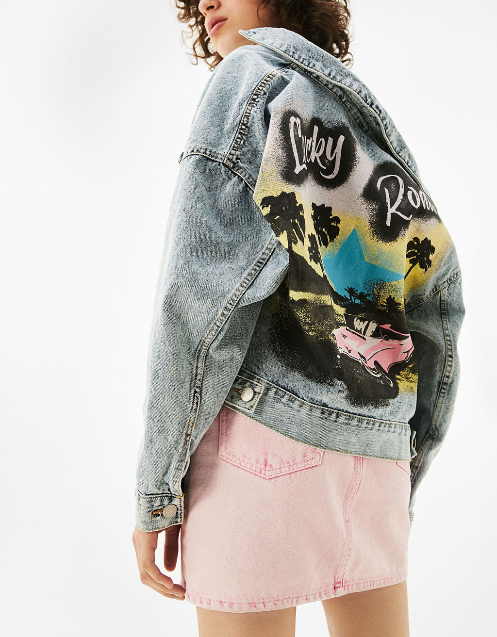 Denim jacket with print