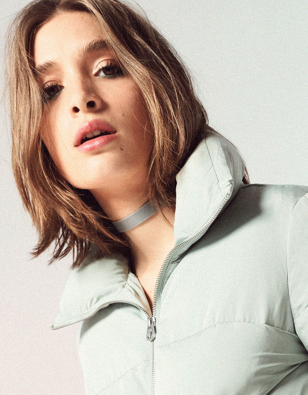 Funnel collar puffer jacket