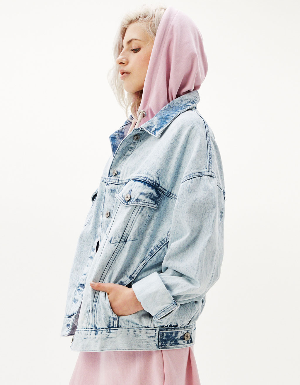 Denim roller jacket
