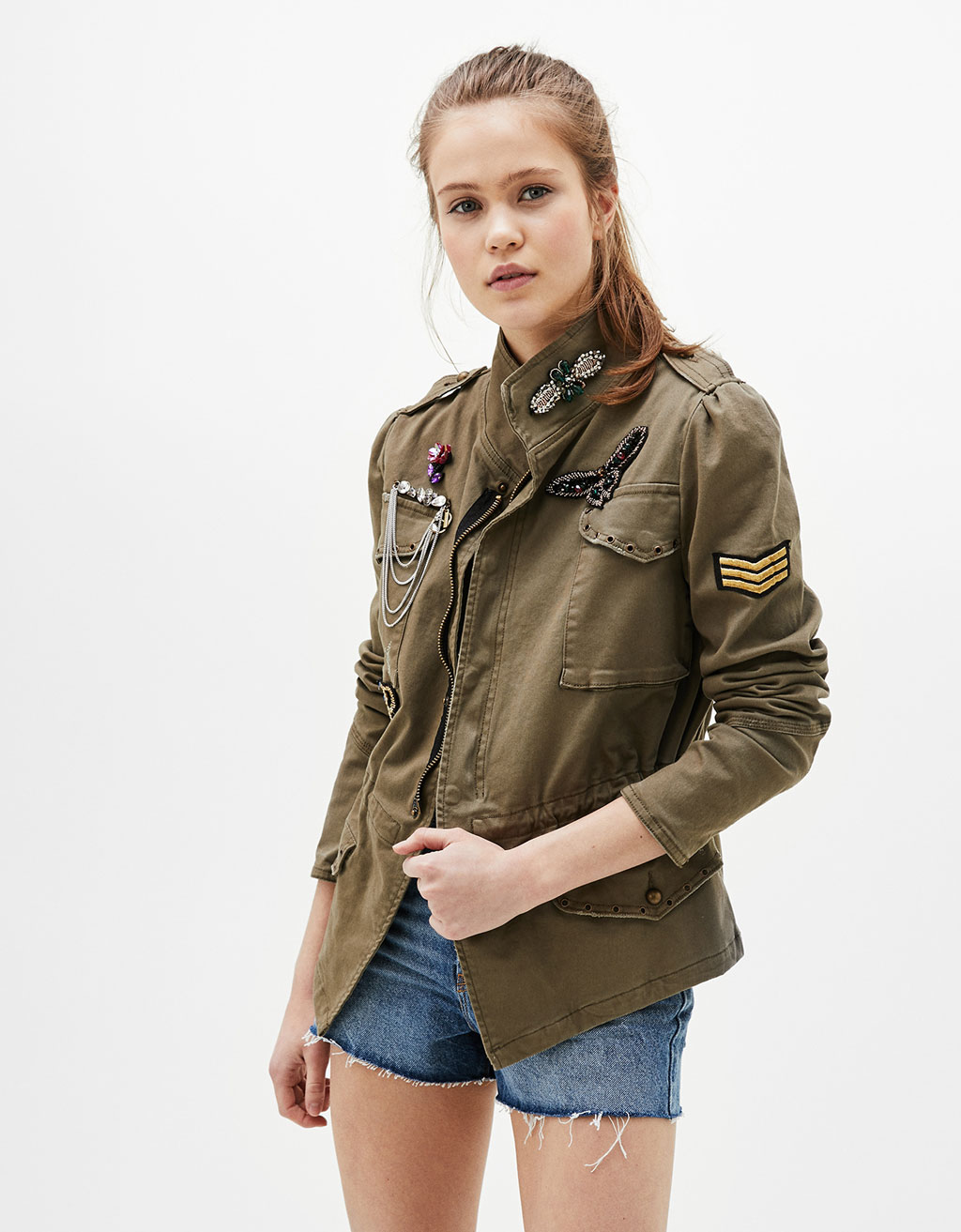 Military jacket with details
