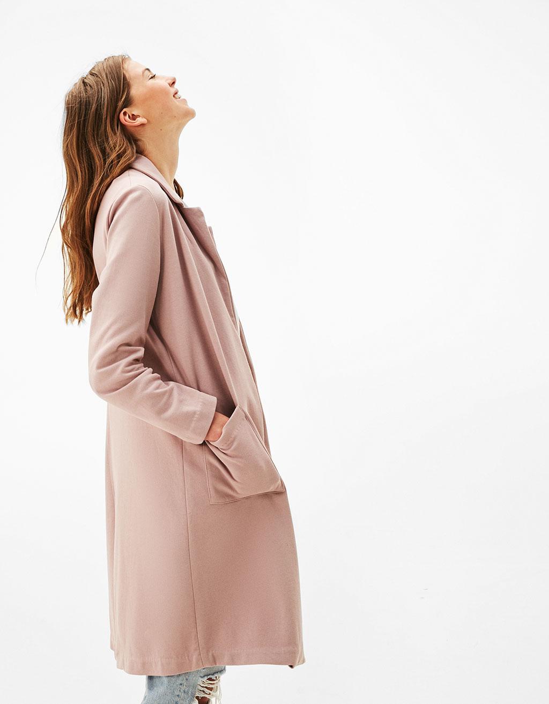 Masculine cut coat
