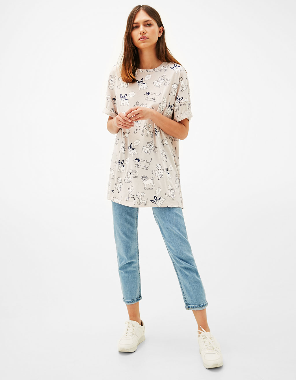Oversized printed T-shirt