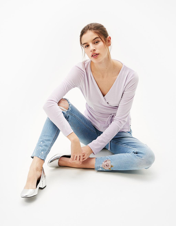 Velvet ballerina top