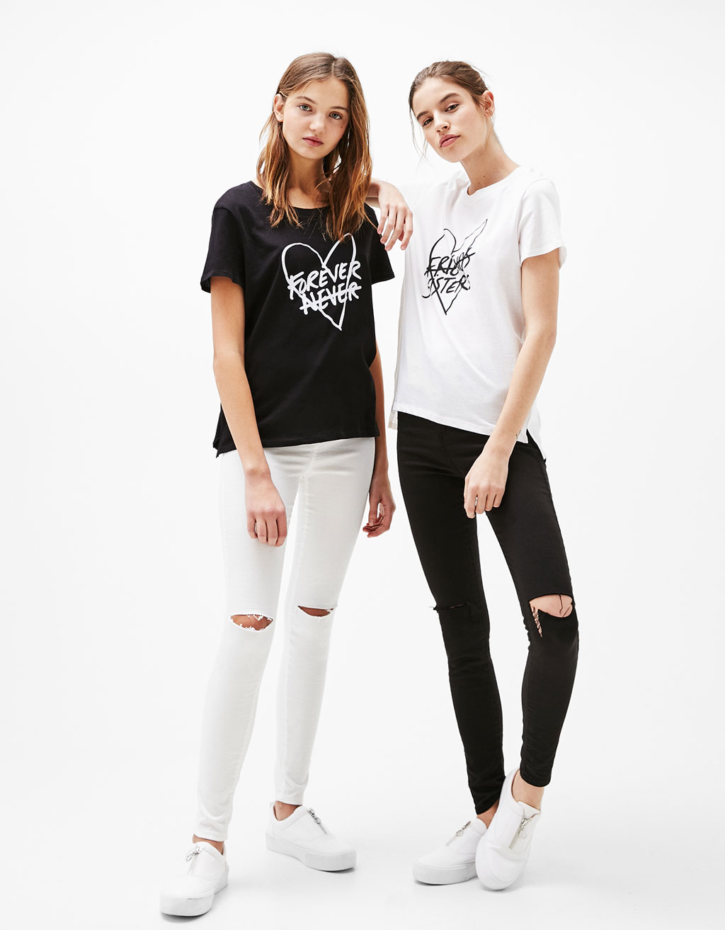 Forever/Sister printed T-shirt