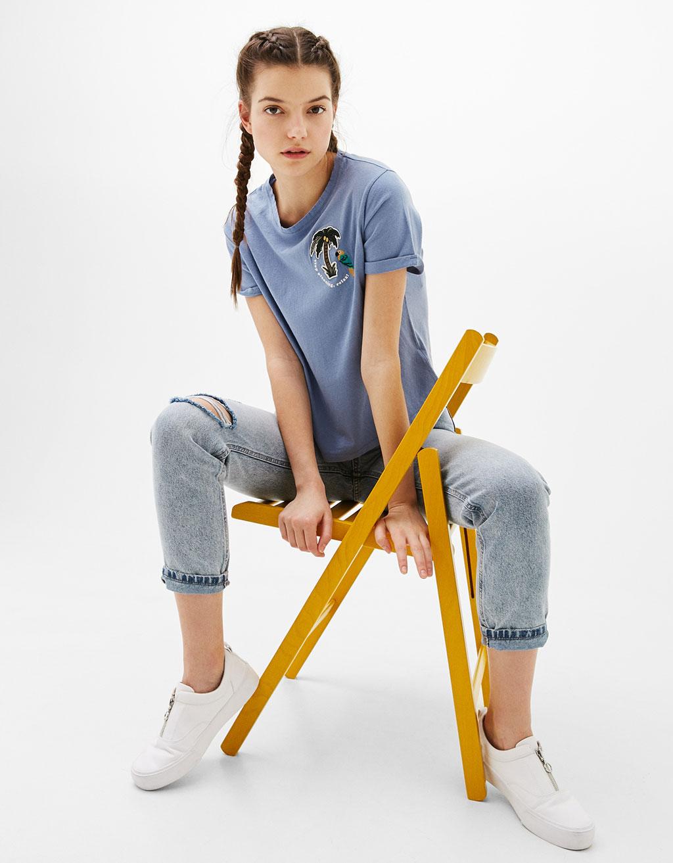 T-krekls ar uzšuvēm