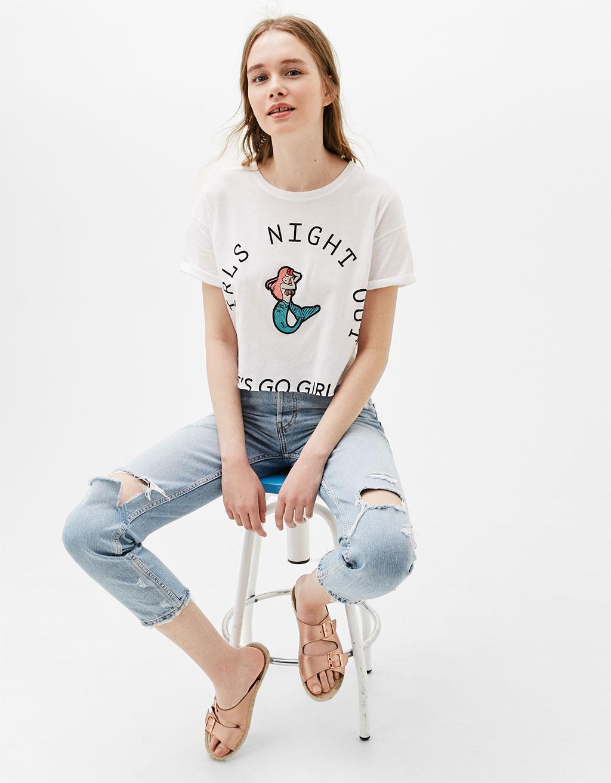 Cropped T-shirt 'Girls'