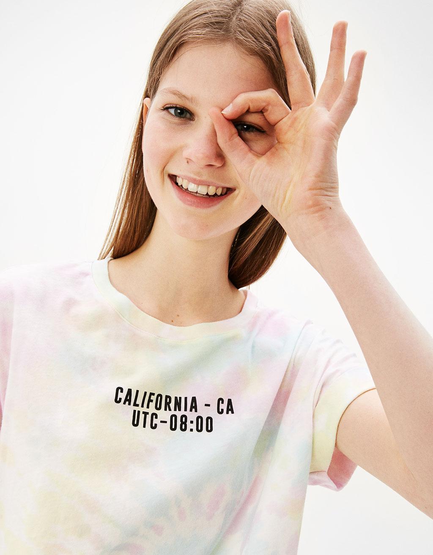Tie dye T-shirt California