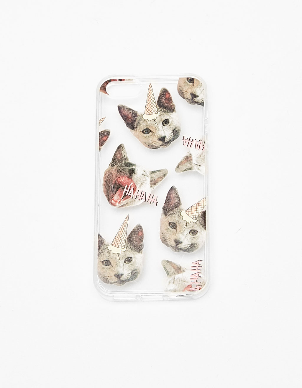 Caticorns transparent iPhone 5/5s case