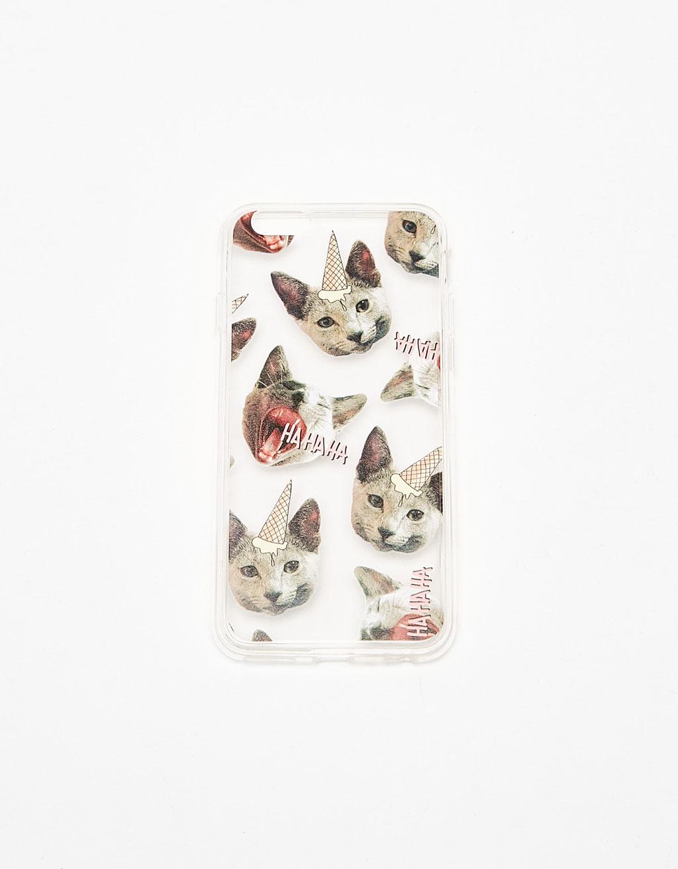 Caticorns transparent iPhone 6/6s case