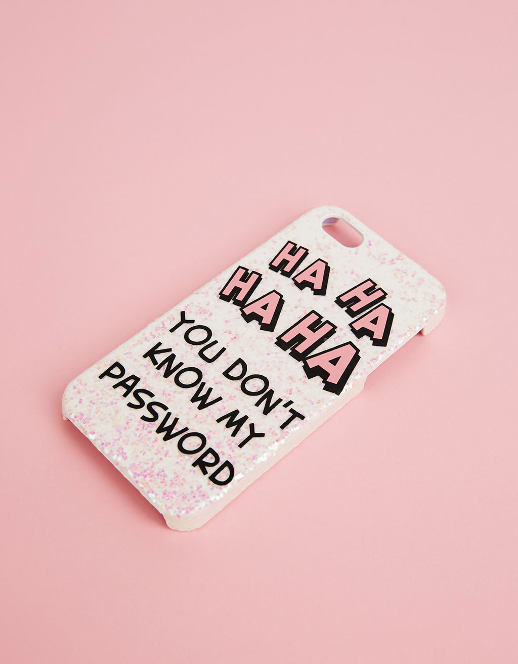 Glitter text iPhone 5/5s/5SE cover