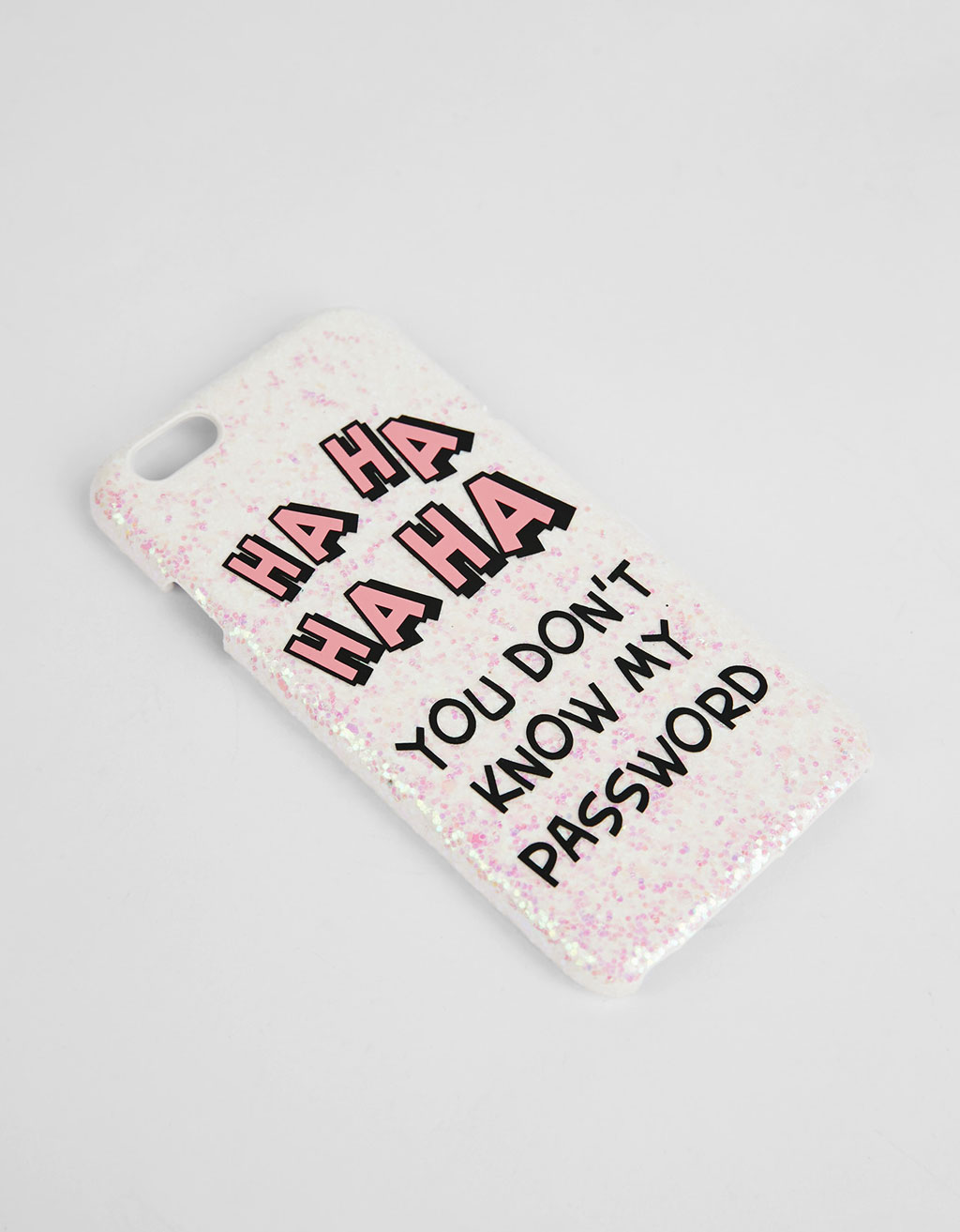 Glitter text iPhone 6/6s cover