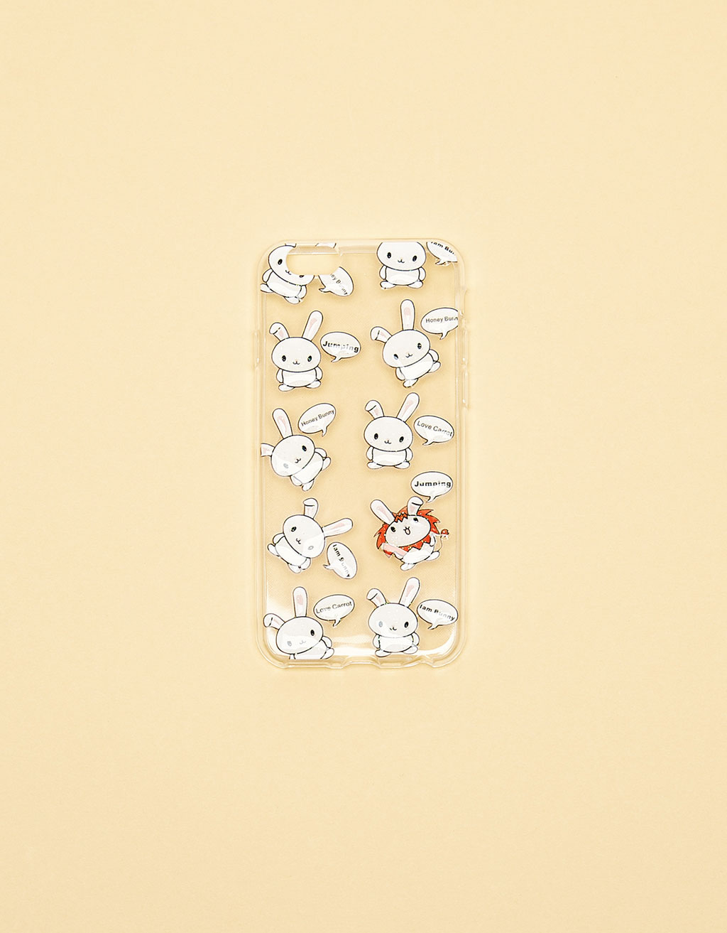 Bunnies transparent iPhone 6/6s case