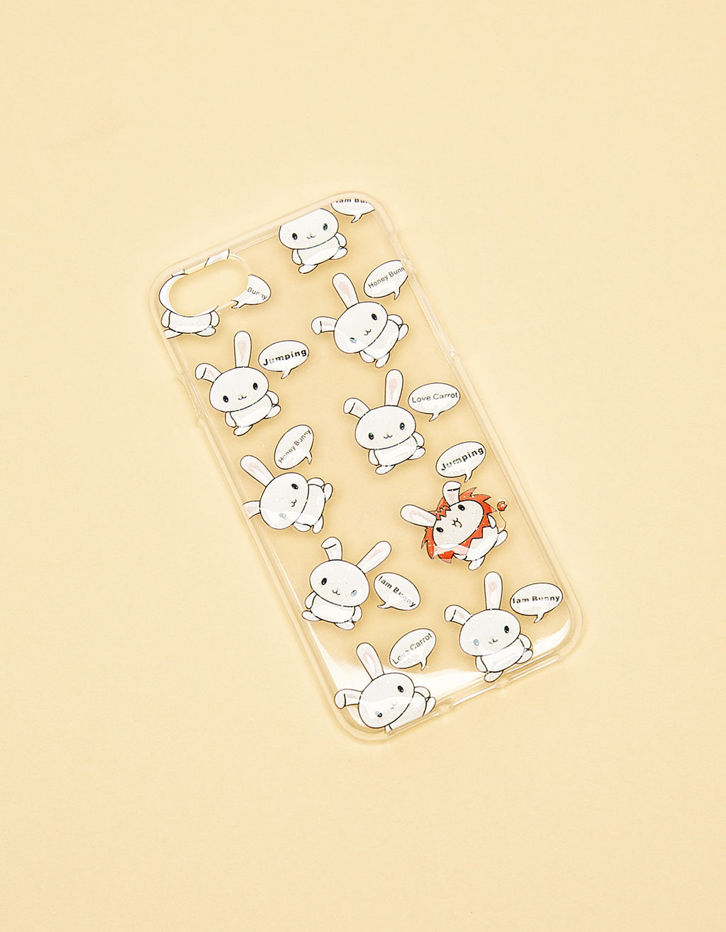 Bunnies transparent iPhone 7 case