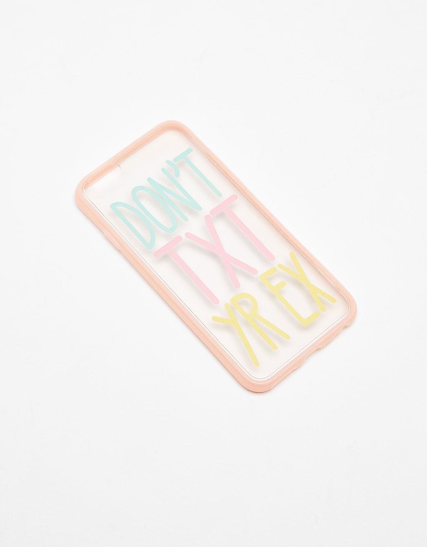 Slogan transparent iPhone 6/6s case