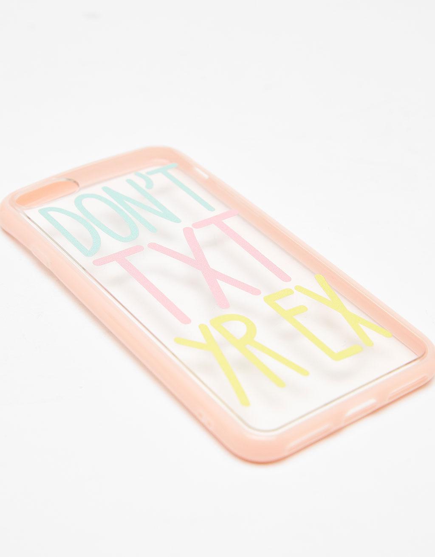 Slogan transparent iPhone 7 case