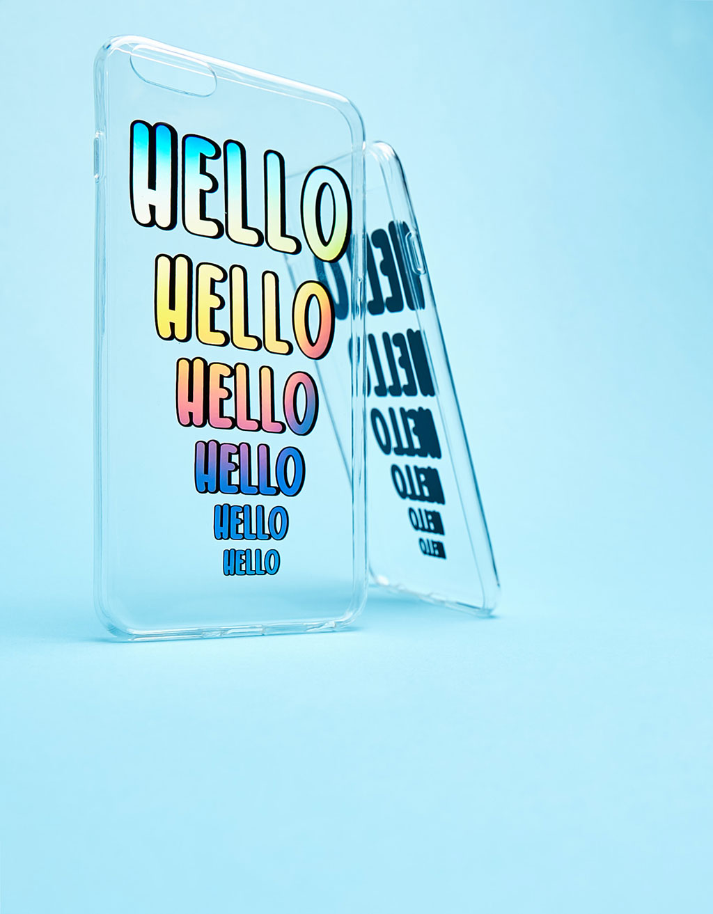 Iridescent Hello transparent iPhone 6 Plus case