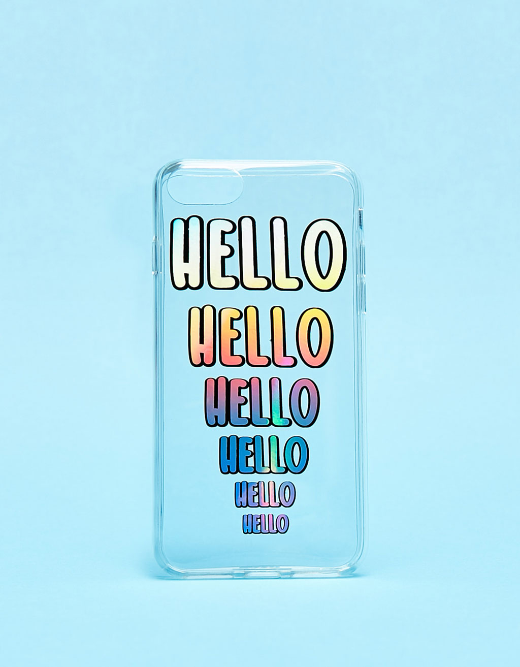 Coque transparente Hello irisée iPhone 7