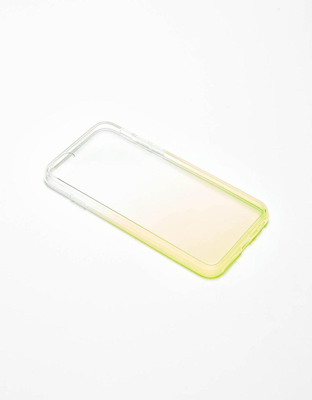 Transparente Handyhülle mit neonfarbenem Farbverlauf für iPhone 6/6s