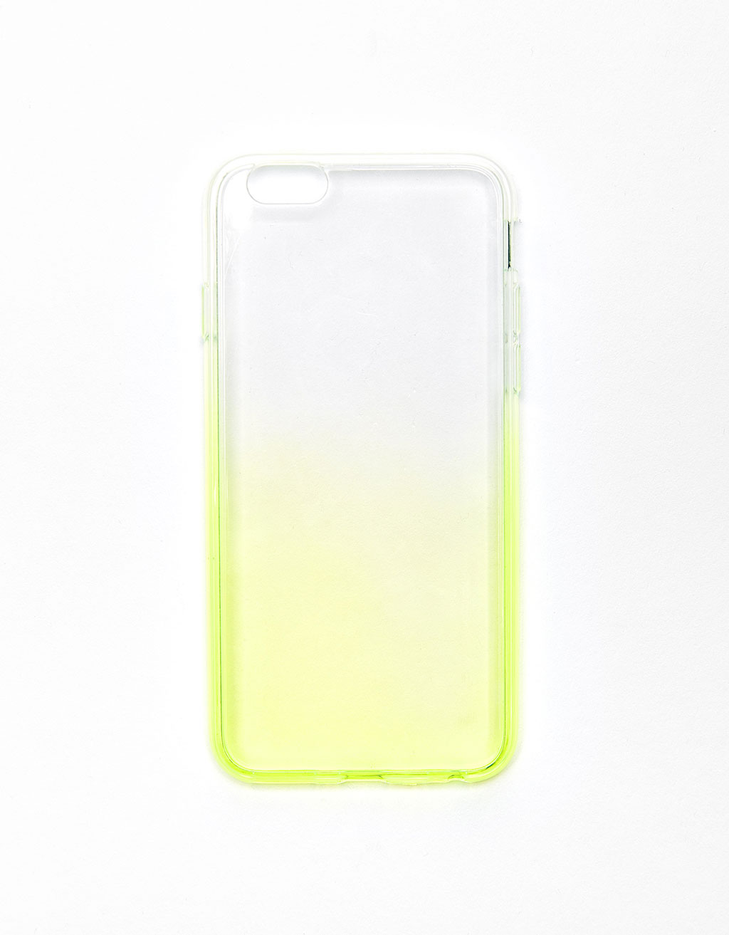Transparent neon ombré iPhone 6 plus case