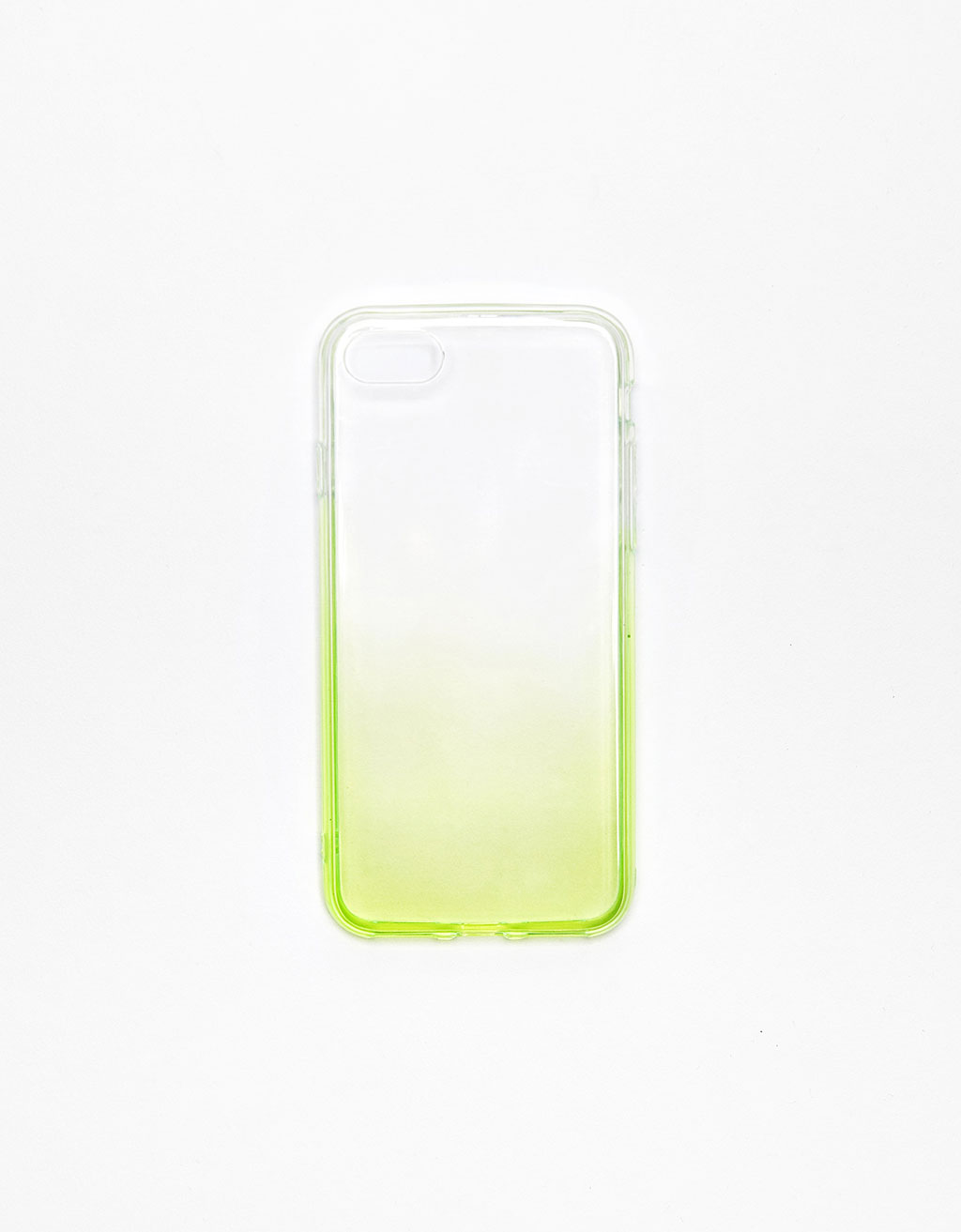 Coque transparente dégradée néon iPhone 7
