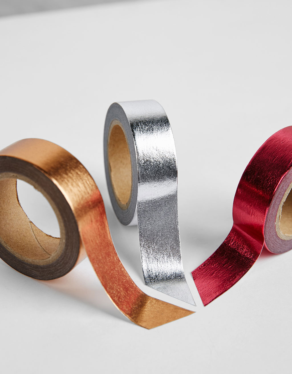 3er-Pack Papierband in Metallic