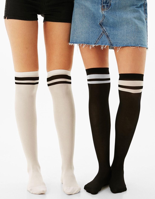 Set of 2 high socks
