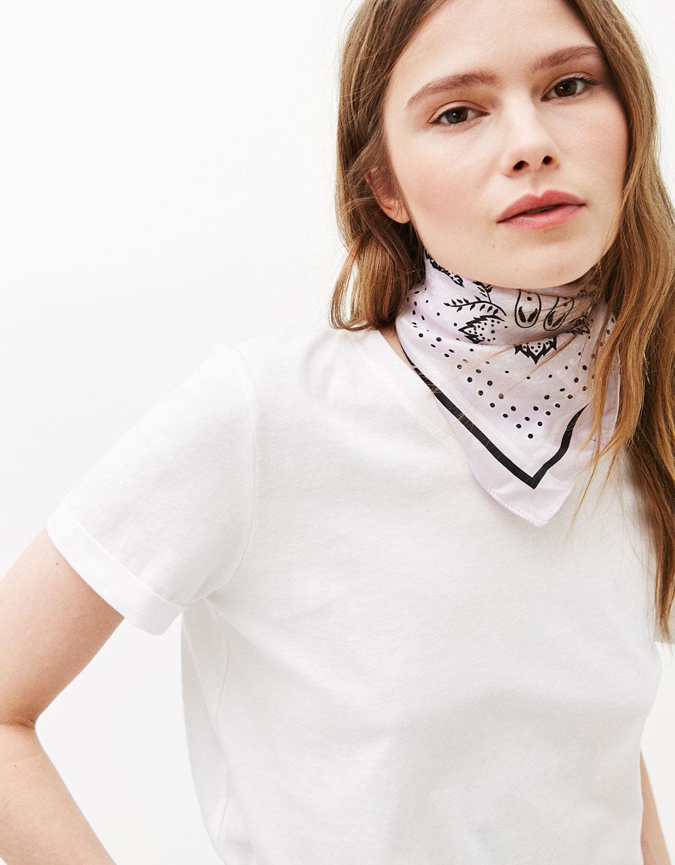 Multi-way print sateen bandana