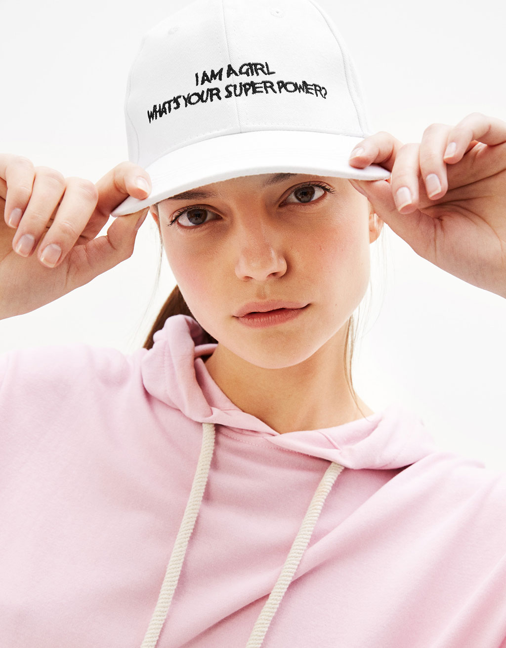 Gorra bordada 'Power Girl'