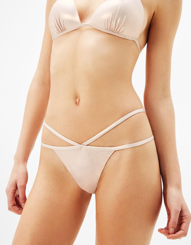 Braguiña bikini metalizada