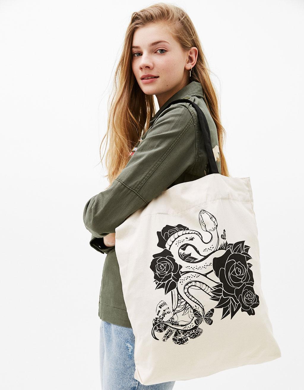 Wzorzysta torba shopper