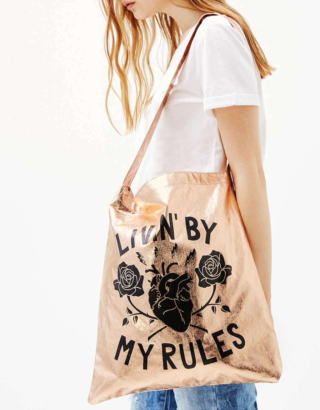 Shopper-laukku.Living by my rules'