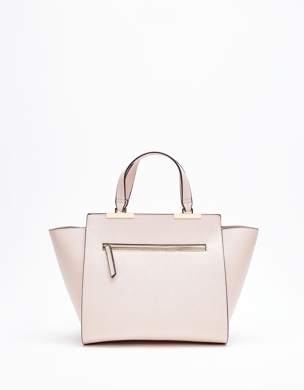 Metallic zip tote bag