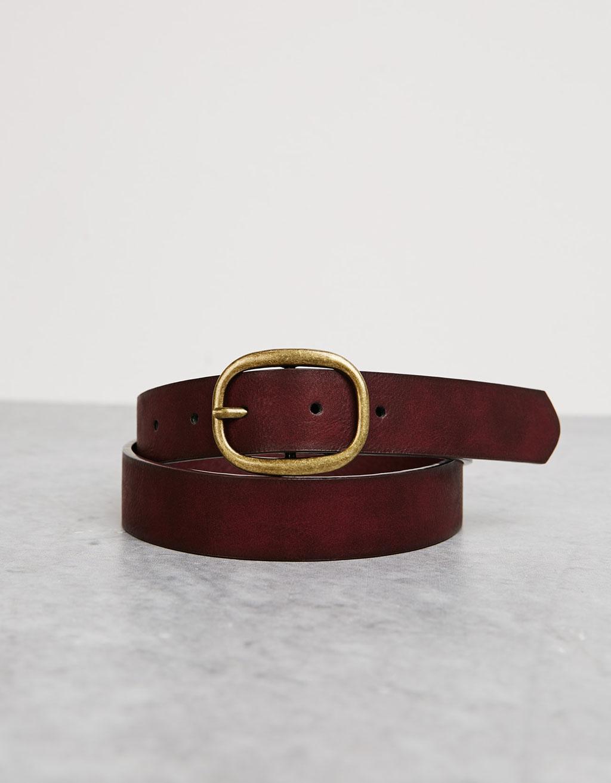 Plain smooth belt