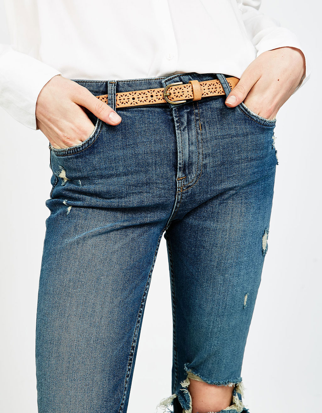 Thin belt with perforations