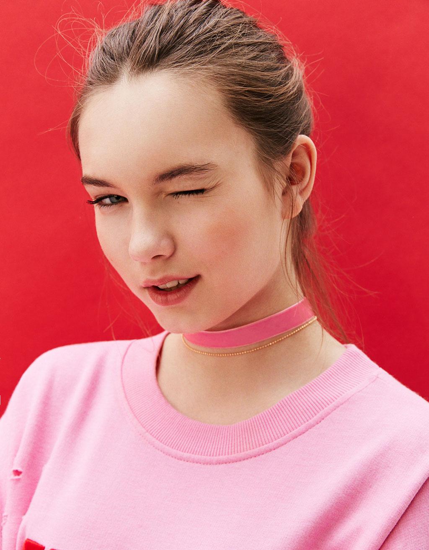 Velvet LOVE choker necklace