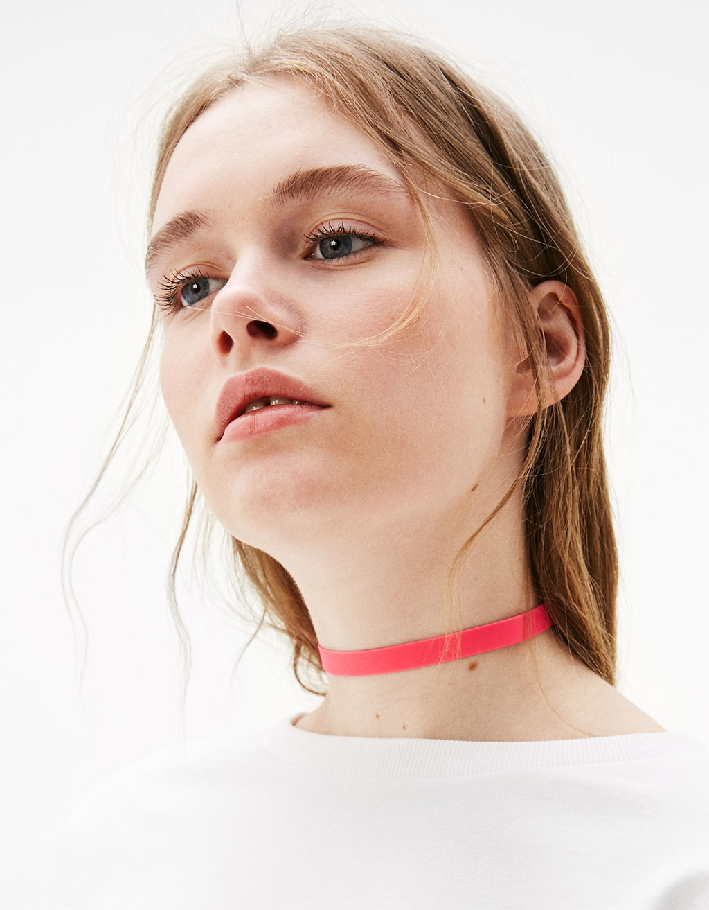 Set of 3 neon choker necklaces