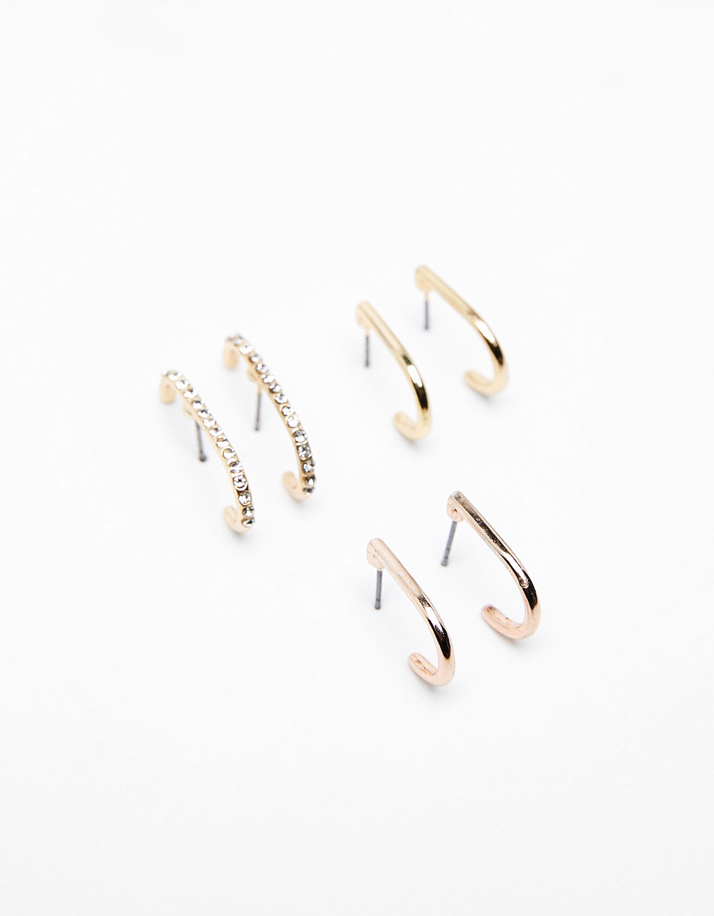 Set of 3 minimalist ear cuffs
