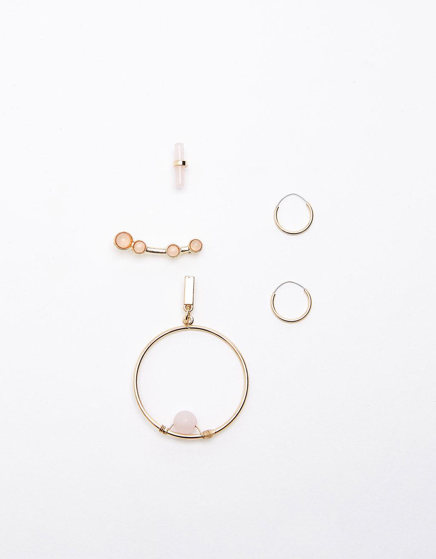 Set of earcuff earrings