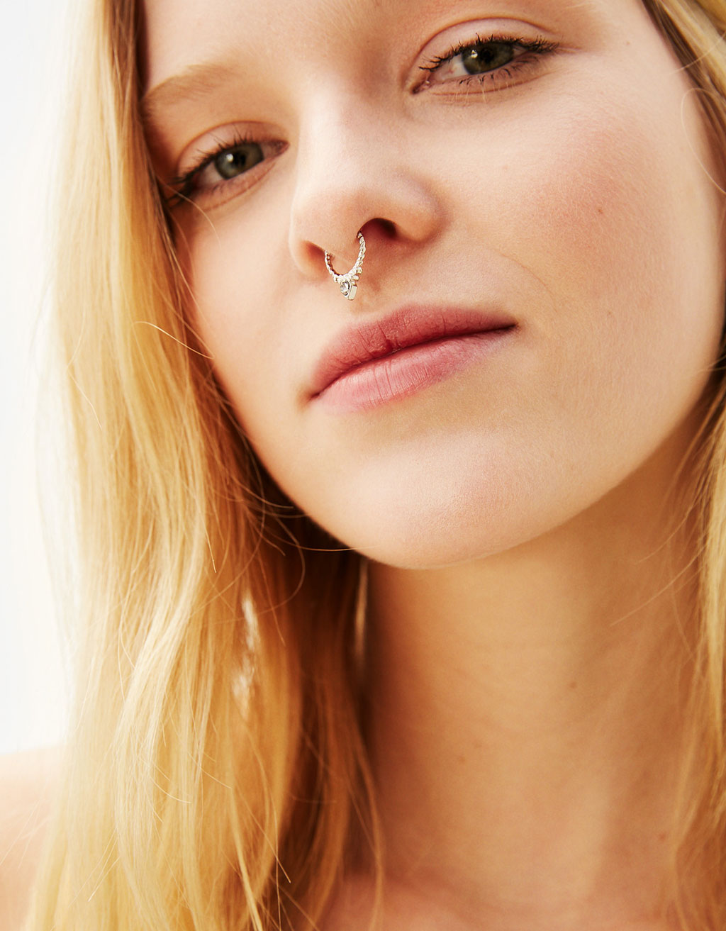 Set of 3 mini silver-coloured nose rings