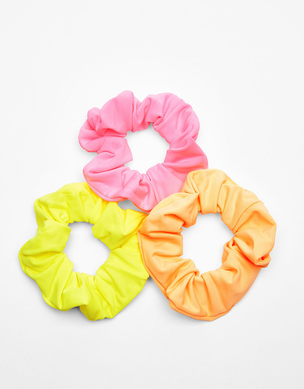 Set of 3 neon coloured scrunchies