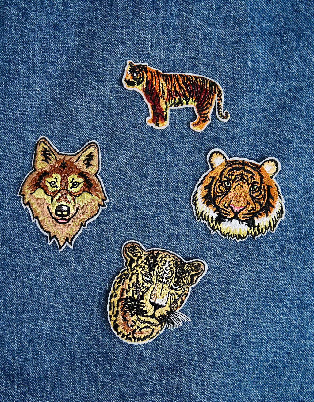 Set of 4 animal patches