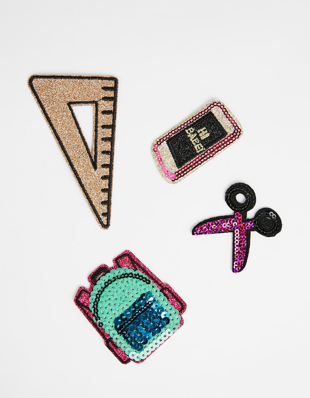Set of 4 school patches