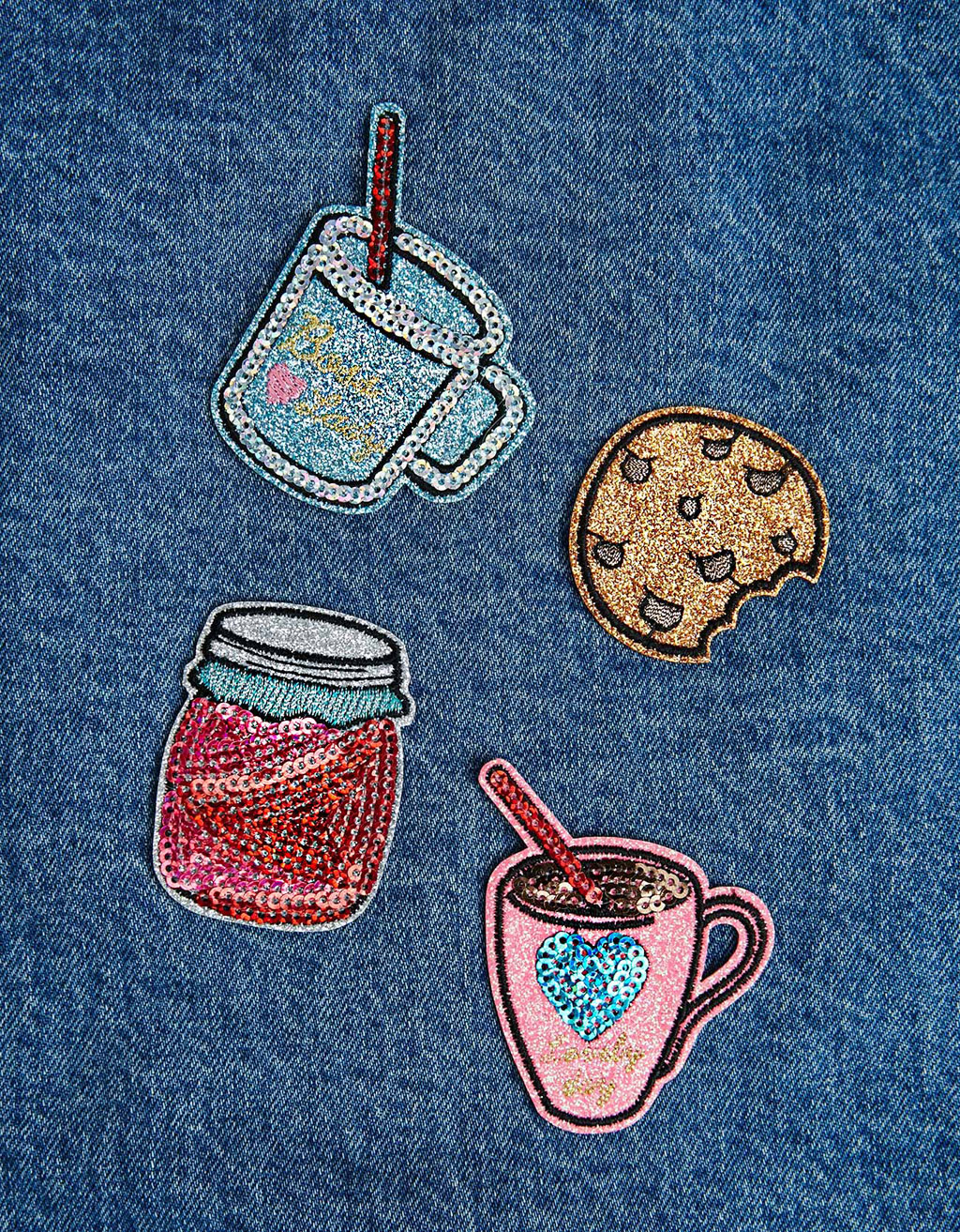 Set of 4 cookie patches