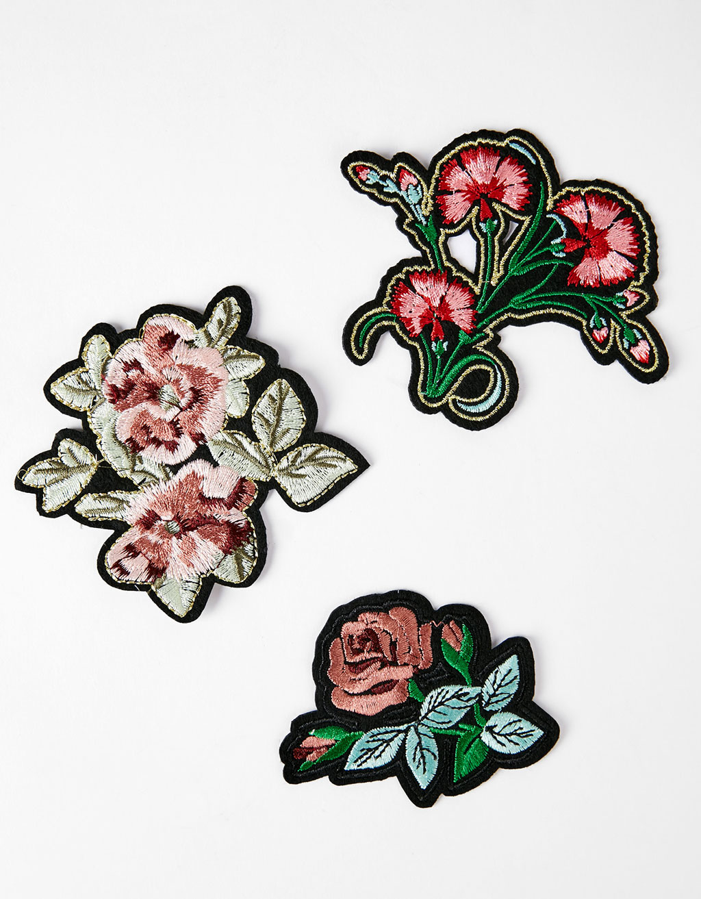 Set of flower patches