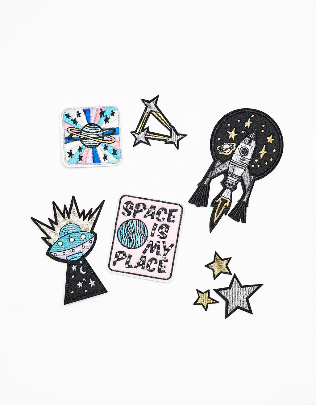 Set of 8 space patches