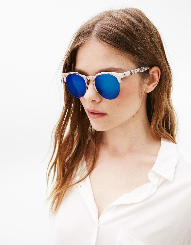 Marble mirrored sunglasses