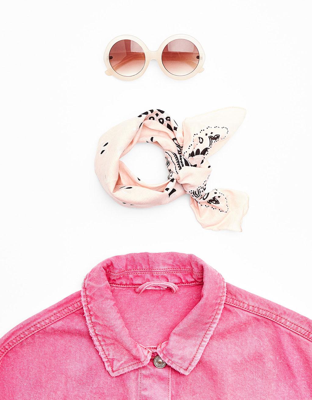 Kulaté sluneční brýle růžové