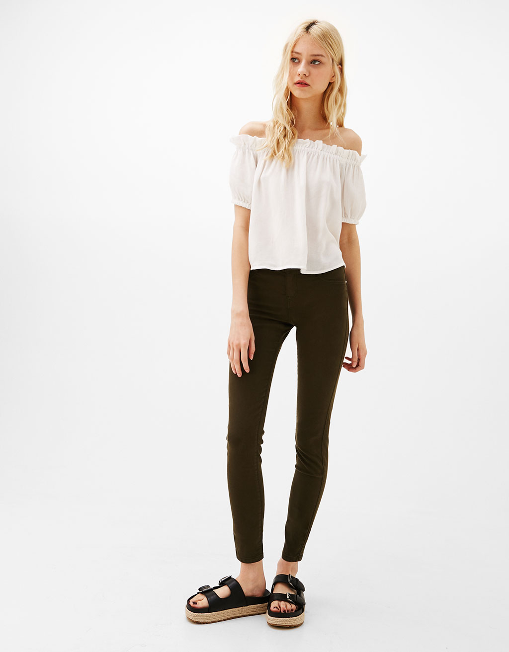 Low rise high elasticity jeggings